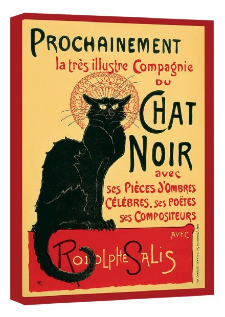 Theophile Alexandre Steinlen: Tour of Rodolphe Salis' Chat Noir. Vintage French Advertising Canvas. Sizes: A4/A3/A2/A1 (001679)